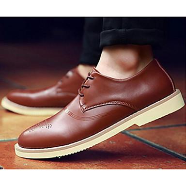 Męskie Komfortowe buty Skóra bydlęca Wiosna Oksfordki Czarny / Brązowy / Ciemnobrązowy / Na zewnątrz