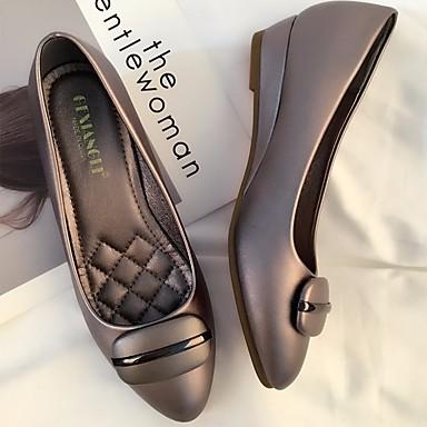 Printemps Ballerines Confort Plat foncé 06665201 Talon Chaussures Amande Automne Gris Femme Noir Cuir xZwpqXg