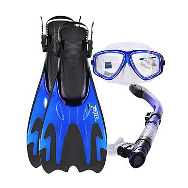 Kit para Snorkeling / Pacotes de Mergulho - Máscara de mergulho, Nadadeiras de Mergulho, Snorkel - Pala Longa, Protecção Natação, Mergulho