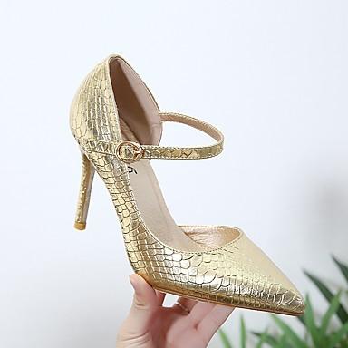 Argent Chaussures Talons Femme Basique Aiguille Talon Cuir Automne à 06714299 Escarpin Nubuck Or Confort Chaussures Wrzz0qAOw