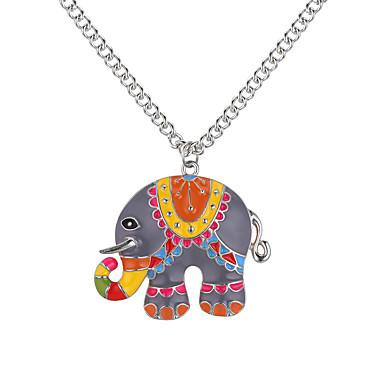 billige Mote Halskjede-Anheng Halskjede Elefant Dyr damer Europeisk Mote Legering Gull Sølv 62 cm Halskjeder Smykker Til Daglig
