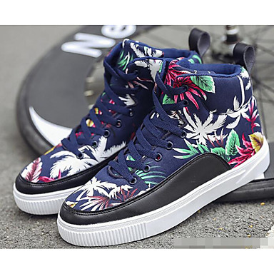 Men's Sneakers Comfort Shoes Canvas Fall Sneakers Men's Black / Red / Blue 0570a5
