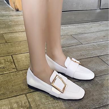 Plat Chaussures carré Jaune Talon 06664001 Femme Noir Confort Bout Ballerines Automne Rose Printemps Boucle Similicuir 1Cq0qwxZ