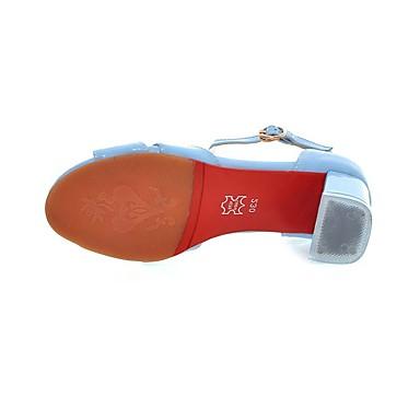 Basique Escarpin Printemps Beige Chaussures Sandales ouvert Cuir Rose Similicuir Femme Bout Verni Bottier 06681403 été Talon Boucle Bleu dxIYn0Rxqw