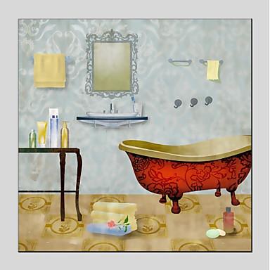 Hang-pictate pictură în ulei Pictat manual - Natură moartă Modern Includeți cadru interior / Stretched Canvas