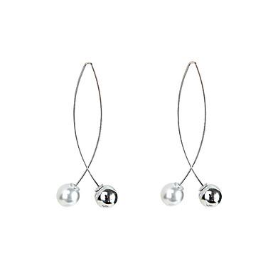 Long Drop Earrings Imitation Pearl Ladies Simple European