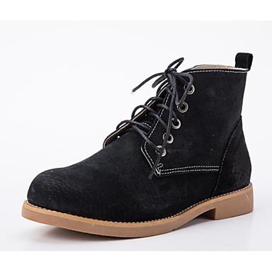boîtes Noir Bottine Confort Demi de Femme Bas Chameau Botte Bottes Chaussures Hiver 06682590 Combat Cuir Talon UqW1SgB