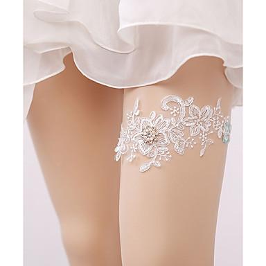 Dantelă Dantelă Nunta Garter Cu Piatră Semiprețioasă / Perle / Cataramă Jartiere Nuntă / Party & Seară