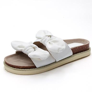 Pentru femei Pantofi PU Vară Pantof cu Berete Sandale Toc Drept Funde Negru / Galben / Roz