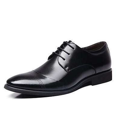 Men's Formal Shoes Leather Spring Brown Comfort Oxfords Black / Brown Spring 82eb23