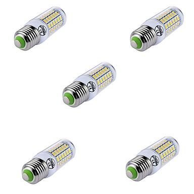 billige Elpærer-5 stk 69leds stearinlys e27 ledet maislys t 69 led perler smd5730 dekorative varm / kald hvit for lysekrone spotlight 220-240v