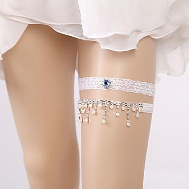 Dantelă Stil Vintage Nunta Garter Cu Piatră Semiprețioasă / Perle / Găuri Jartiere Nuntă / Party & Seară