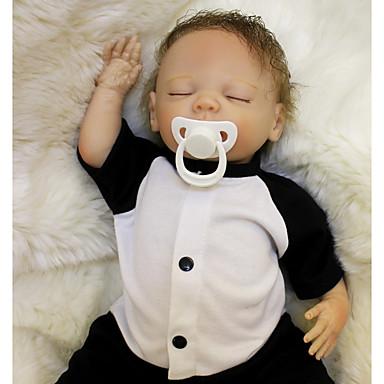 preiswerte Lebensechte Puppe-OtardDolls Lebensechte Puppe Baby Jungen 18 Zoll Silikon - Neugeborenes lebensecht Umweltfreundlich Geschenk Kindersicherung Non Toxic Kinder Unisex / Mädchen Spielzeuge Geschenk / ASTM / Floppy Head