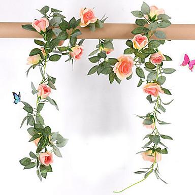 Sztuczne Kwiaty 1 Gałąź Elegancki / Rustykalny Roses Kwiaty na ścianę
