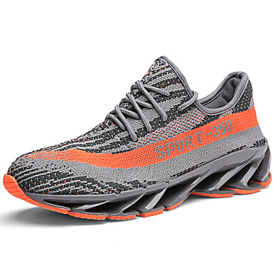 Unisex Pantofi Tul Primavara vara Confortabili Adidași de Atletism Alergare Toc Drept Gri / Negru / Alb / Portocaliu & negru