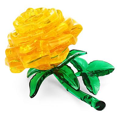 Zabawki 3D / Kryształowe puzzle Kwiatowy Motyw Zabawki biurkowe Acryic / Polyester 44pcs Doroślu / Pośrednie Wszystko Prezent