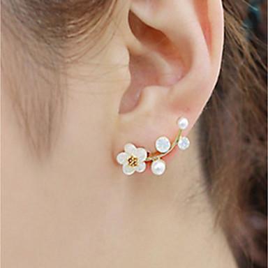 Pentru femei Opal Cercei Stud - Imitație de Perle Florale / Botanice, Floare Modă, Elegant Auriu / Argintiu Pentru Zilnic Birou și carieră
