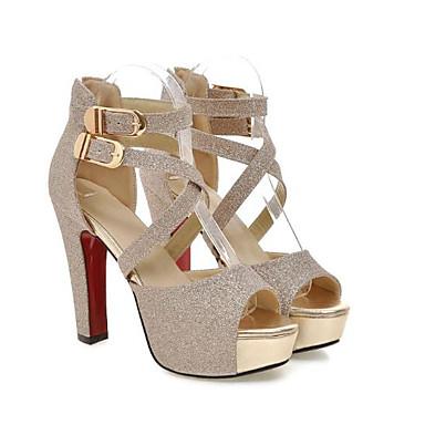 Printemps Talon Escarpin Or 06685171 ouvert Argent Polyuréthane Noir été Femme Basique Bout Boucle Chaussures Sandales Aiguille qIw0pnE
