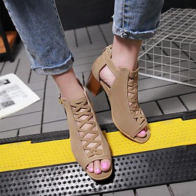 Bottier Sandales ouvert Vert Automne Bout Chaussures 06671818 Beige Boucle Noir Nouveauté Femme Confort Nubuck Talon Cuir hiver 1zqH0Z