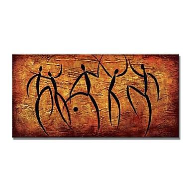 Brioso Hang-dipinto Ad Olio Dipinta A Mano - Astratto Contemporaneo Modern Include Interno Della Montatura - Tela Allungata #06652150 Domanda Che Supera L'Offerta
