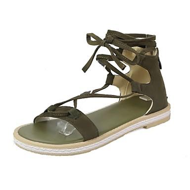 Marche Plat Confort Véronèse Gladiateur Cyclisme Femme ouvert Nubuck Talon Eté Bout 06671946 Cuir Boucle Bottes Sandales Chaussures Vert vxx8Cq4