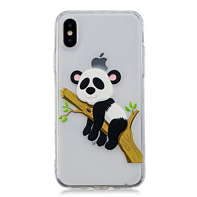 Maska Pentru Apple iPhone X / iPhone 8 Plus Transparent / Model Capac Spate Panda Moale TPU pentru iPhone X / iPhone 8 Plus / iPhone 8