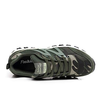 Confort Bout rond Femme Vert à Printemps Véronèse été Plat Chaussures d'Athlétisme 06714733 Polyuréthane Pied Camouflage Course Talon Chaussures OSISqpw