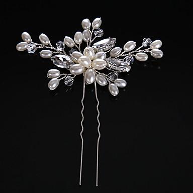 Imitație de Perle / Ștras Pini de păr cu Imitație de Perle 1 Bucată Nuntă Diadema