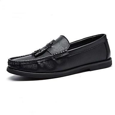 Bărbați Piele Originală Iarnă Confortabili Încălțăminte de Barcă Negru / Maro / Vișiniu