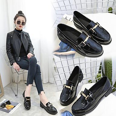 bajo y de Zapatos sintético PU Negro verano Slip Bajo Zapatos On taco Primavera 06685278 Tacón Mujer microfibra Confort vpqxP8ffw