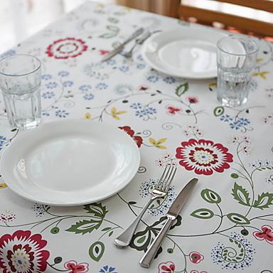 Casual Polichlorek winylu Kwadrat Podkładki Kwiaty Dekoracje stołowe 1 pcs