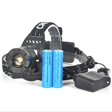 5000 lm Frontale / lumini de securitate / Becul farurilor LED 1 Mod Portabil / Profesional / Rezistent la uzură