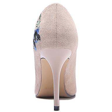 Talon Chaussures Beige Printemps 06650053 Talons pointu Automne Basique Bout Gladiateur à Escarpin Femme Aiguille Fourrure Chaussures Noir fqdSfv