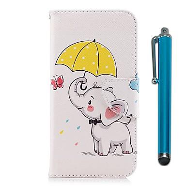 Maska Pentru Huawei Y9 (2018)(Enjoy 8 Plus) / Y6 (2017)(Nova Young) Portofel / Titluar Card / Cu Stand Carcasă Telefon Elefant Greu PU