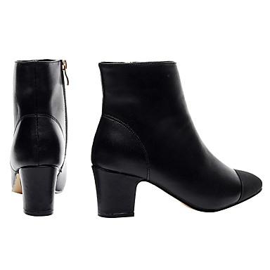 la de Bottes synthétique Amande PU Bottier 06699517 microfibre à Chaussures Femme Mode Automne Noir hiver Talon Similicuir Bottes 4E8wvx