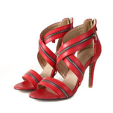 Aiguille Eté Polyuréthane Rouge Escarpin Chaussures Soirée ouvert Noir Evénement Talon amp; Basique Bout Rose 06766240 Femme Mariage Sandales 0BwfSxxn