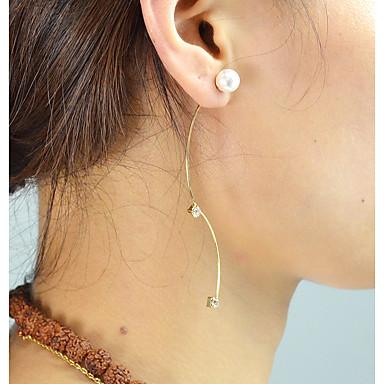 voordelige Dames Sieraden-Dames Zirkonia Druppel oorbellen CrossBody Lucky Standaard Modieus oorbellen Sieraden Goud / Zilver Voor Dagelijks Afspraakje 1 paar