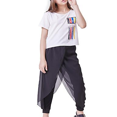 Copii Fete De Bază Mată Manșon scurt Set Îmbrăcăminte