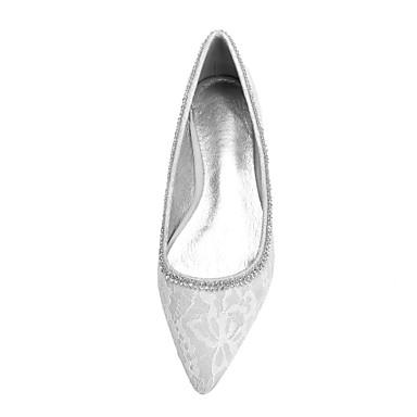 Brillante Cristal mariage Confort Bout de Paillette Plat Chaussures Mariage Femme Chaussures Ivoire amp; Evénement Champagne pointu Dentelle Ballerine Strass 06766348 Soirée Printemps Argent Talon txOwWZq0