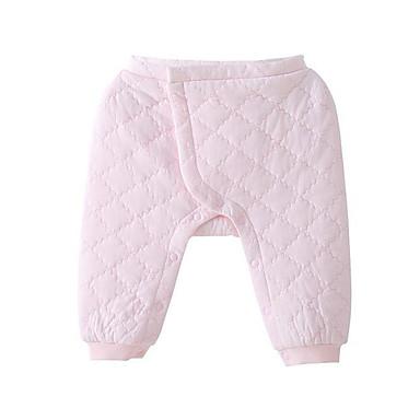 Bebelus Fete De Bază Zilnic Mată Poliester Pantaloni Roz Îmbujorat 52