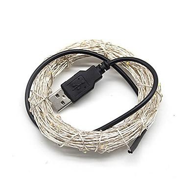 5m Fâșii de Iluminat 50 LED-uri Alb Cald / Alb Rece / RGB USB / Decorativ Alimentat USB 1 buc