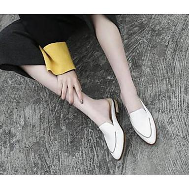 Sabot Noir Blanc Talon Confort 06769973 Mules Cuir Bas amp; Nappa Femme Eté Chaussures wpWCXOqqH