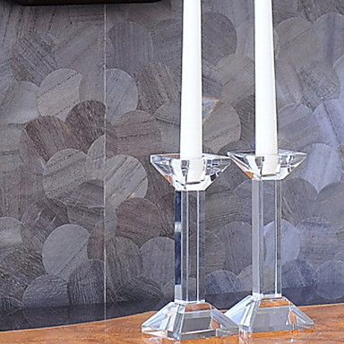 Modern / Contemporary Glasses Candle Holders Candelabra 1pc, Candle / Candle Holder