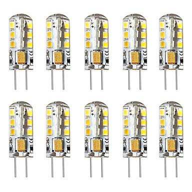 billige Elpærer-brelong 10 stk g4 3w 24led smd2835 kornlys 12v hvit varm hvit