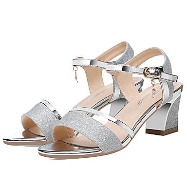 amp; Evénement Talon Chaussures Or Argent été Bride Verni 06750880 Bottier Cuir Cheville de Femme Printemps Sandales Soirée zSxZnq6zH
