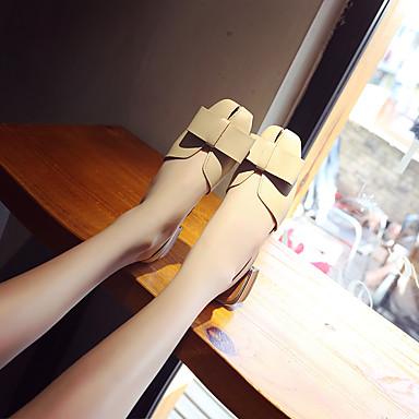Talon Confort Brun Femme 06727941 Polyuréthane Eté carré Beige Chaussures Sandales claire Bas Noeud Marche Bout FqUYgnRa