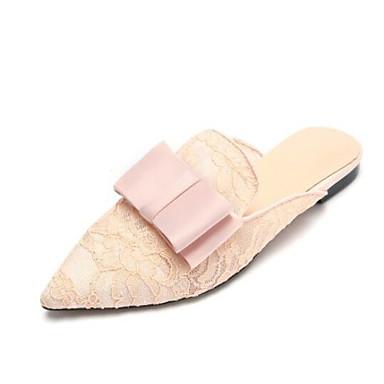 Femme Mules Confort Noir Maille Chaussures Rose Bas Sabot Eté Talon 0PtUxwAY