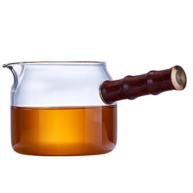 sticlă / Lemn Rezistentă la căldură / Ceai neregulat 1 buc ceainic