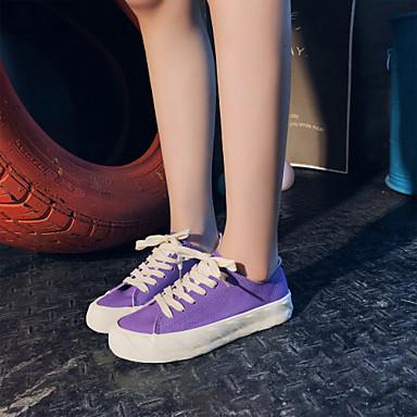 Printemps Violet rond Rose Confort Bout 06751790 Marche Chaussures Femme Talon Toile Bleu Basket Plat été PwavEUqAW4