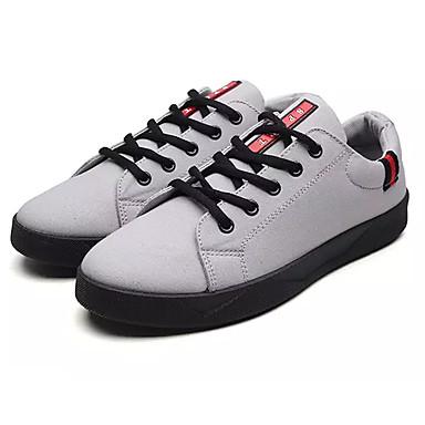 Bărbați Pantofi Piele de Căprioară Toamnă Confortabili Adidași Negru / Gri / Rosu